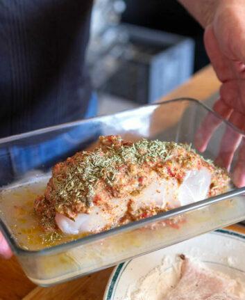 Rôti de silure avant cuisson