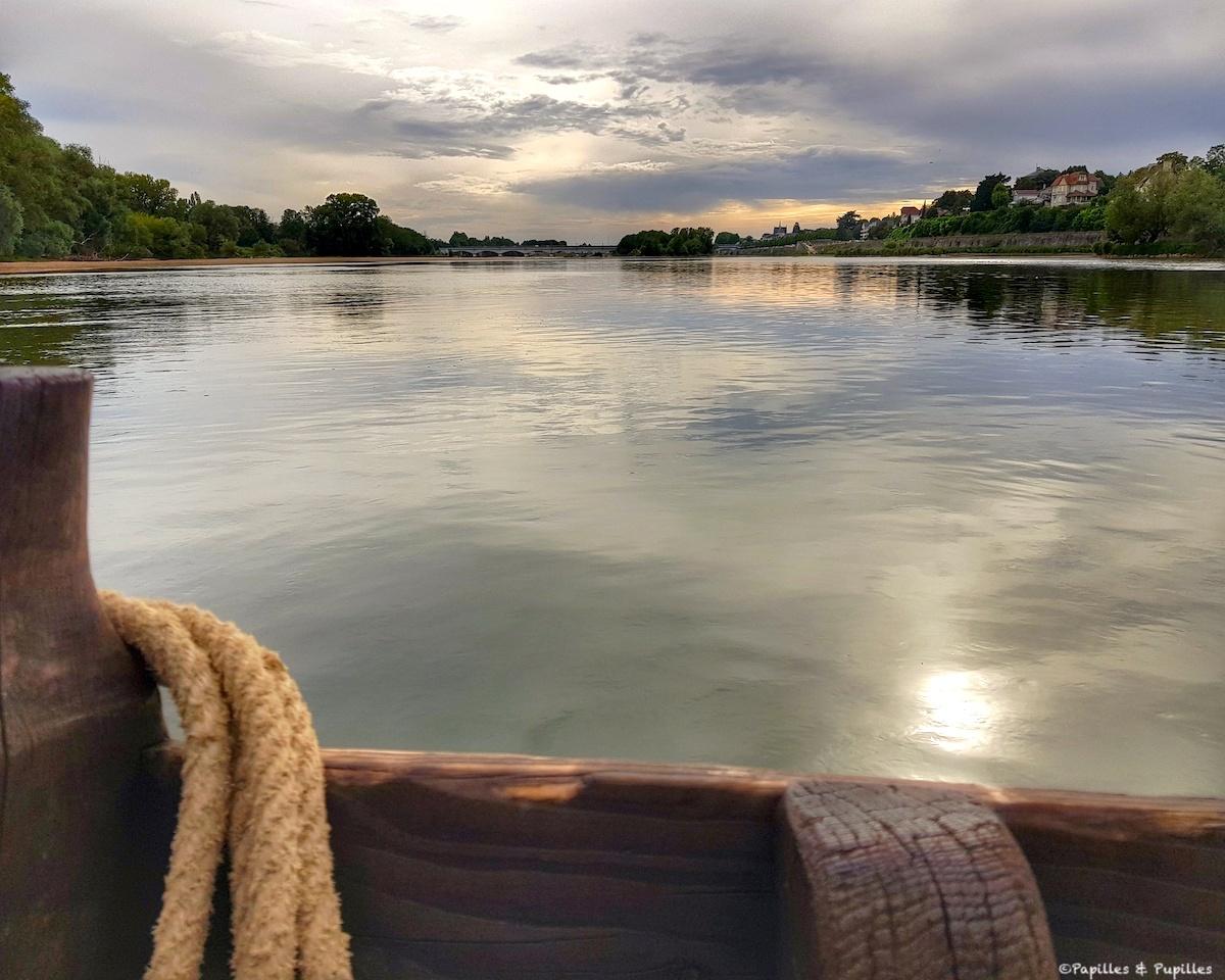Coucher de soleil sur la Loire depuis l'Epinoche