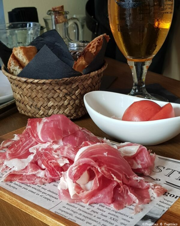 Pan con tomate - Barcelone