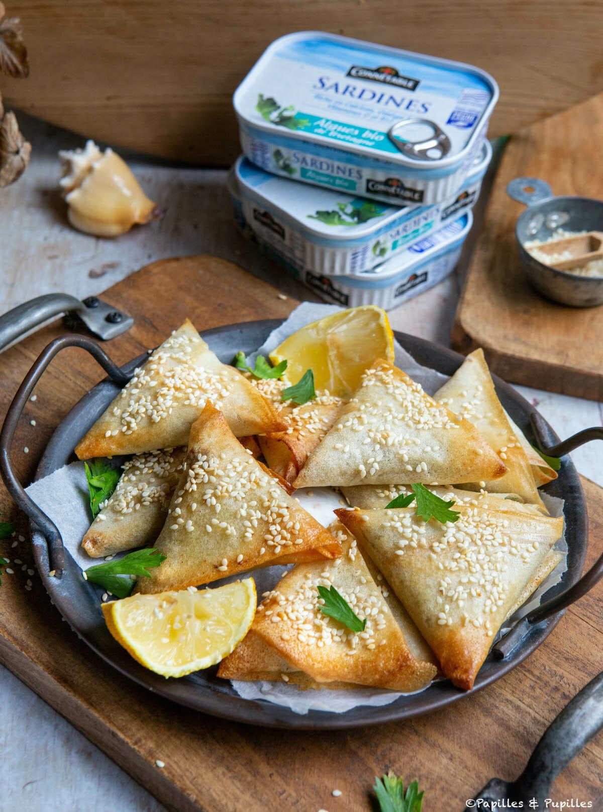 Bricks aux sardines et citron confit