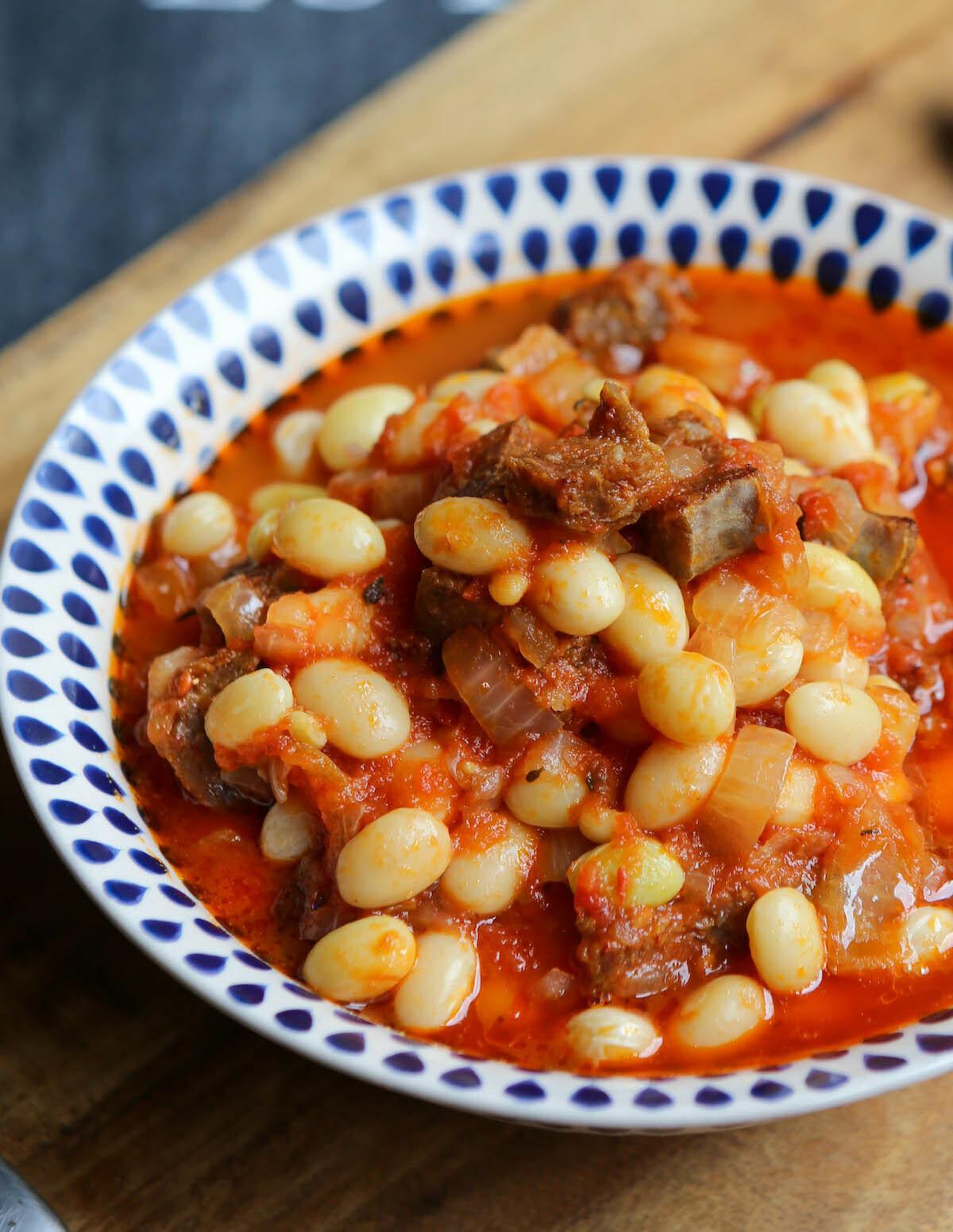 Cocos de Paimpol à la tomate et au chorizo