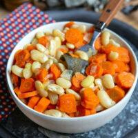 Cocos de Paimpol, carottes et sauge