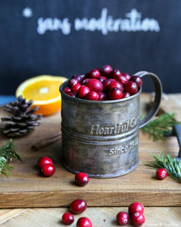 Ingrédients de la sauce cranberries