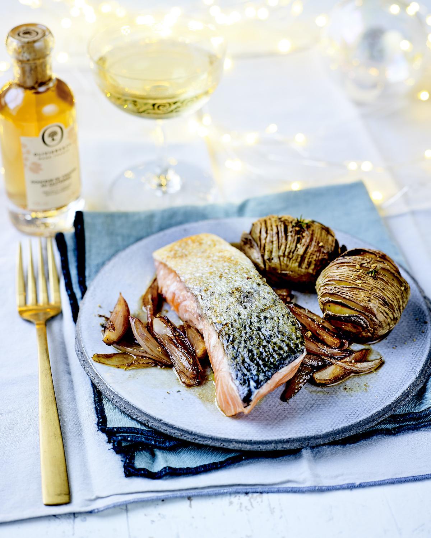 Pavés de saumon au vinaigre de Sauternes