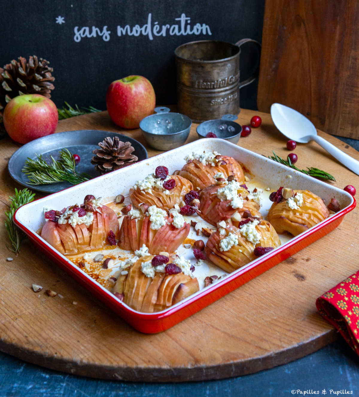 Pommes Hasselback cuites
