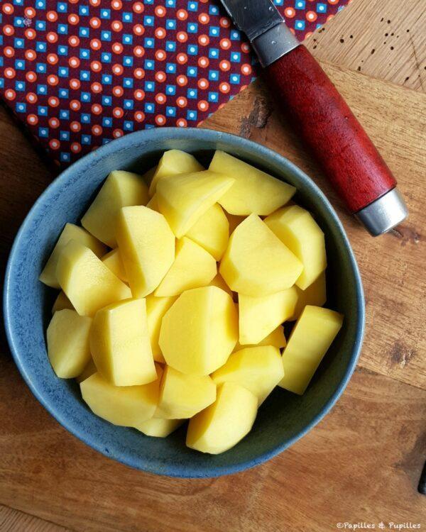 Cubes de pommes de terre