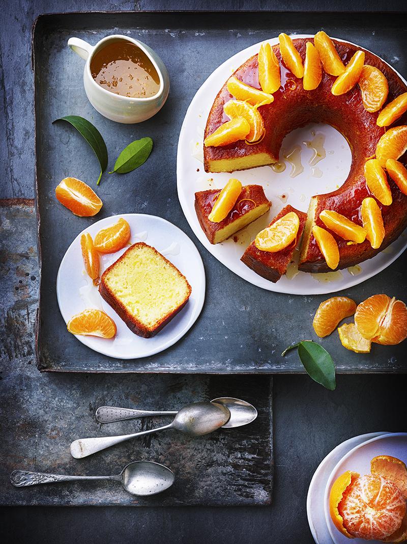 Gâteau moelleux aux clémentines et aux amandes