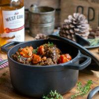Joues de bœuf Irlandais, whiskey et orange