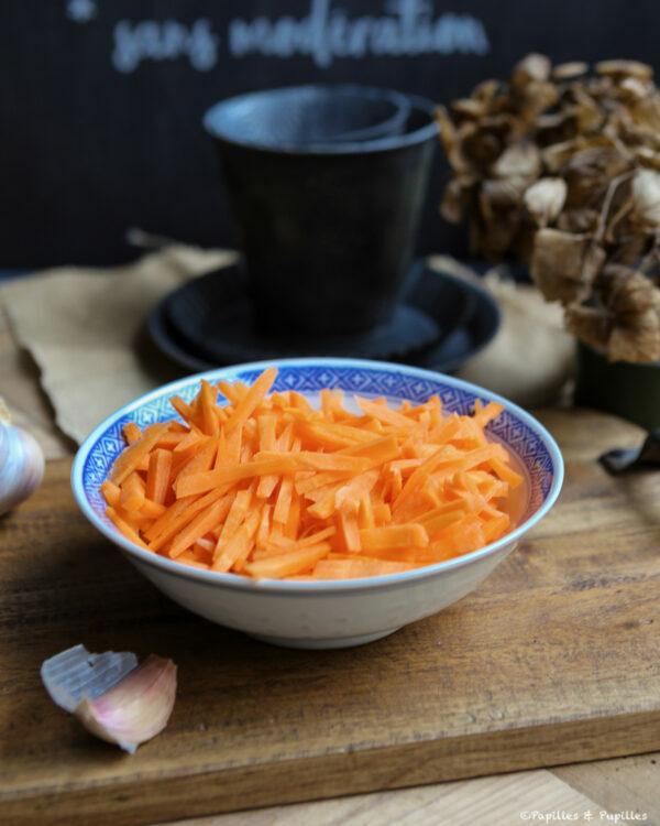 Julienne de carottes
