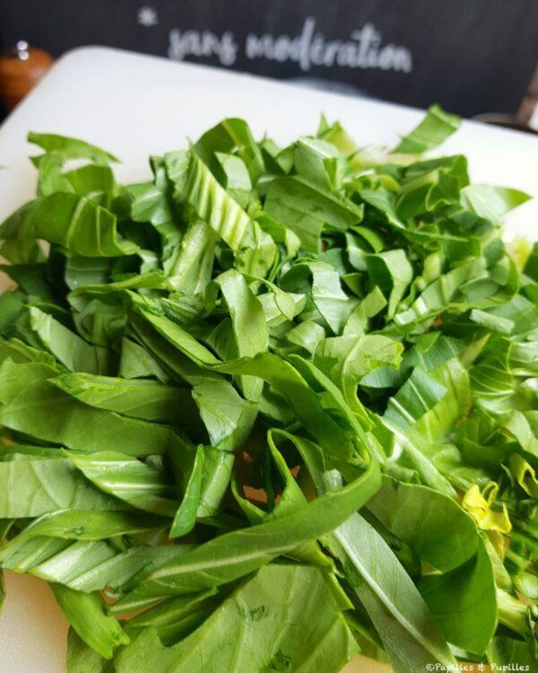 Pak choi feuilles