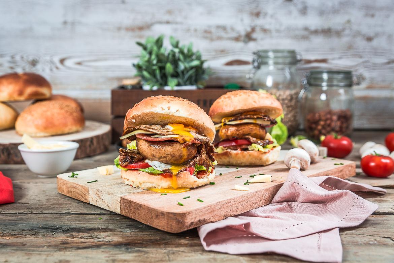 Burger au champignon ©Cuisine moi un mouton