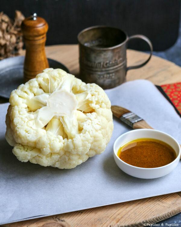Chou fleur et sauce au curry
