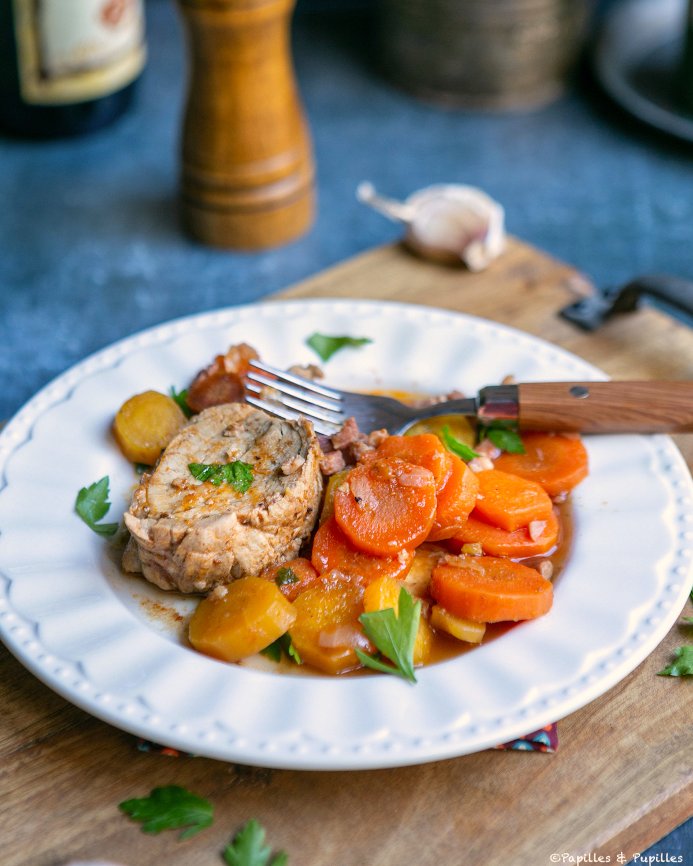 Filet mignon aux carottes rhum et sauce BBQ