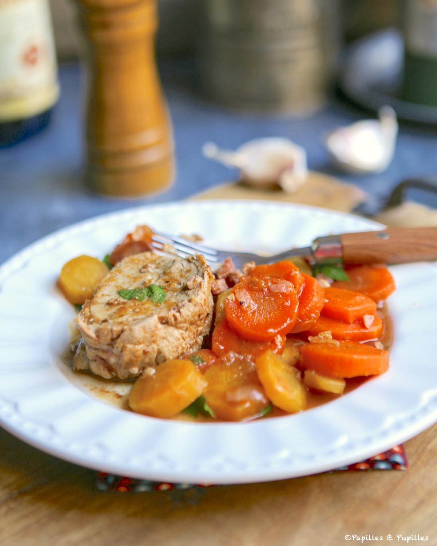 Filet mignon, carottes, sauce BBQ et Rhum