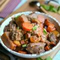 Joues de porc aux carottes et vin blanc