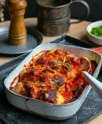 Quenelles au four sauce tomate