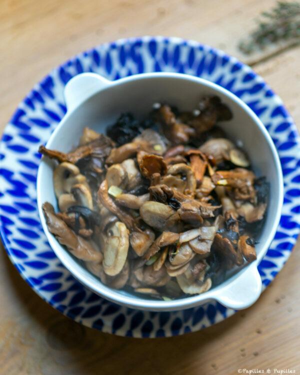 Champignons cuits