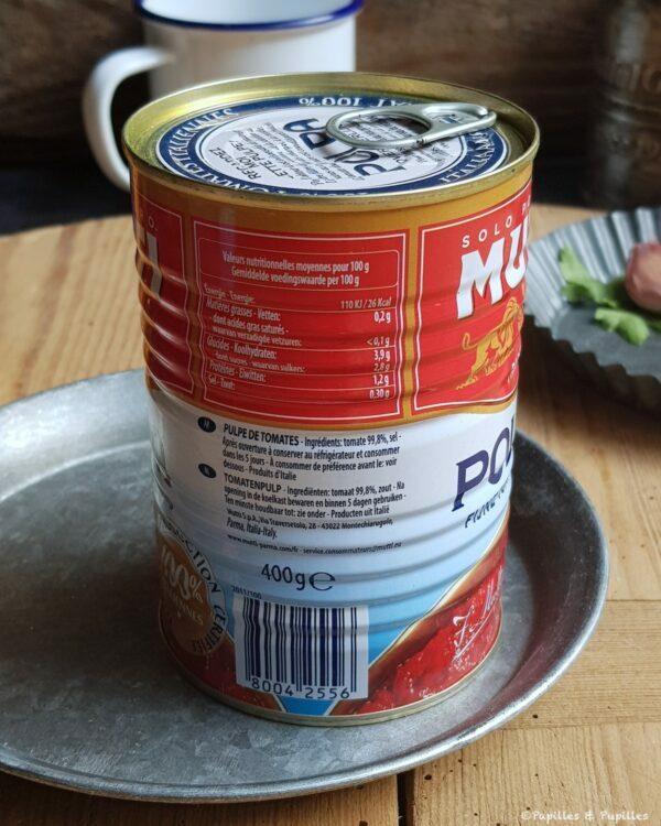 Conserve de tomates 400 g
