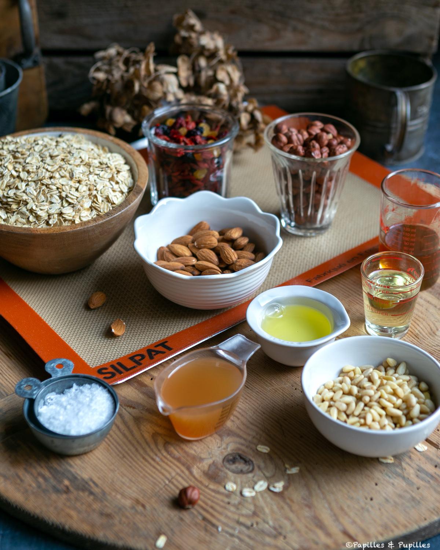 Ingrédients du granola