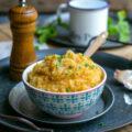 Purée de pommes de terre et butternut