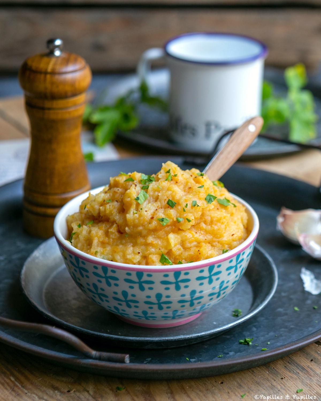Purée de butternut et pommes de terre au curry