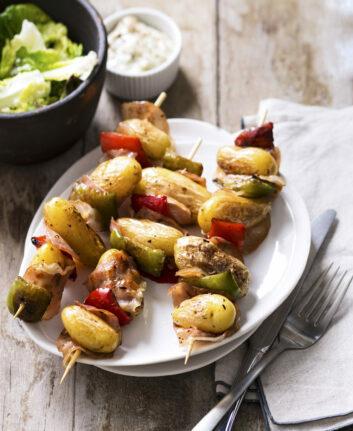 Brochettes de pommes de terre au BBQ