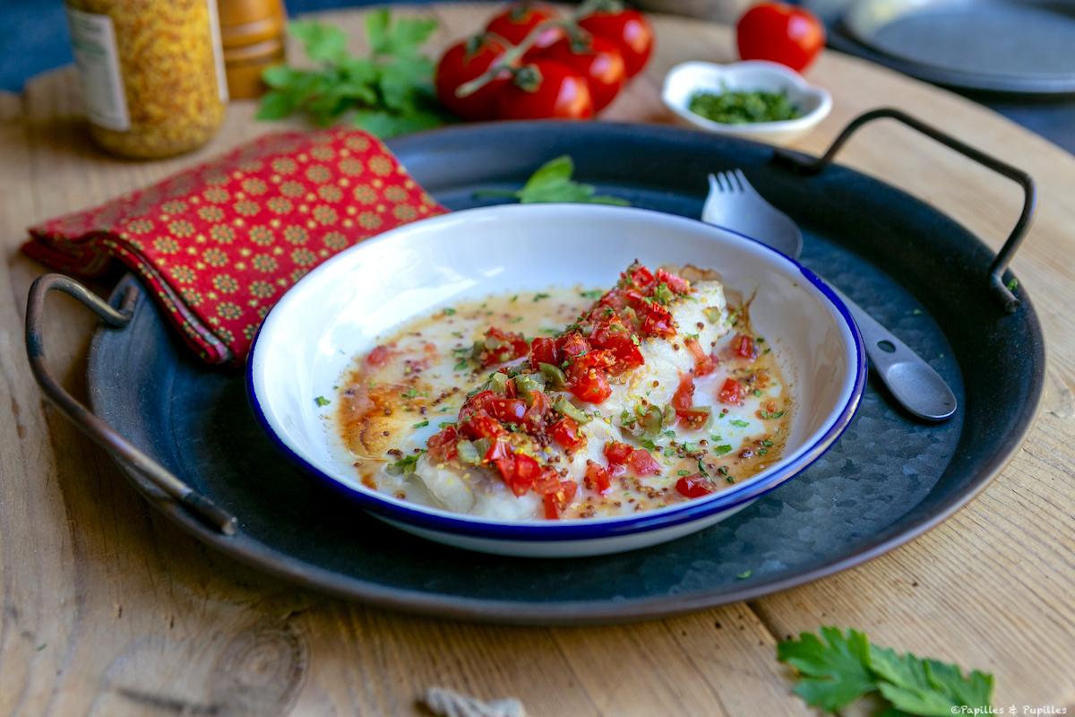 Filet de colin, salsa tomate