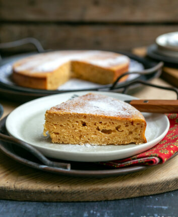Gâteau à la ricottan rhum, citron, vanille