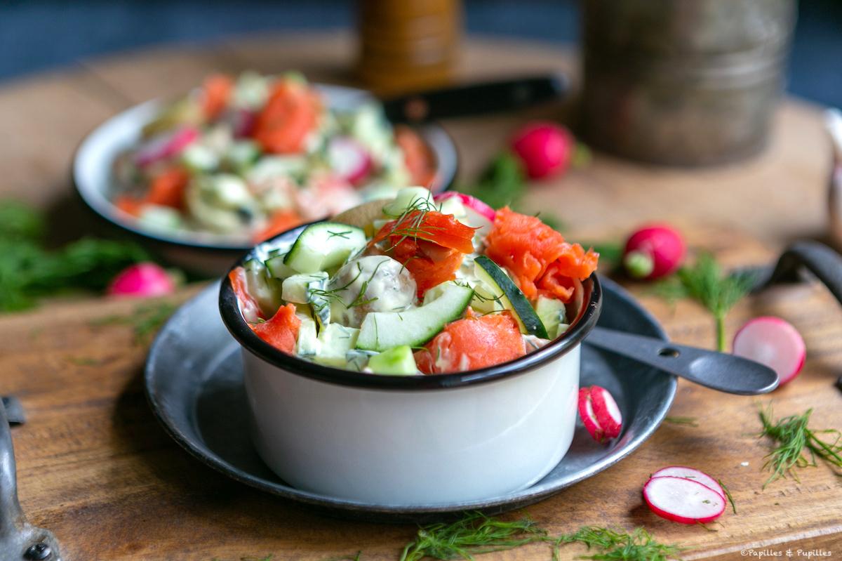 Salade de saumon de l'Alaska