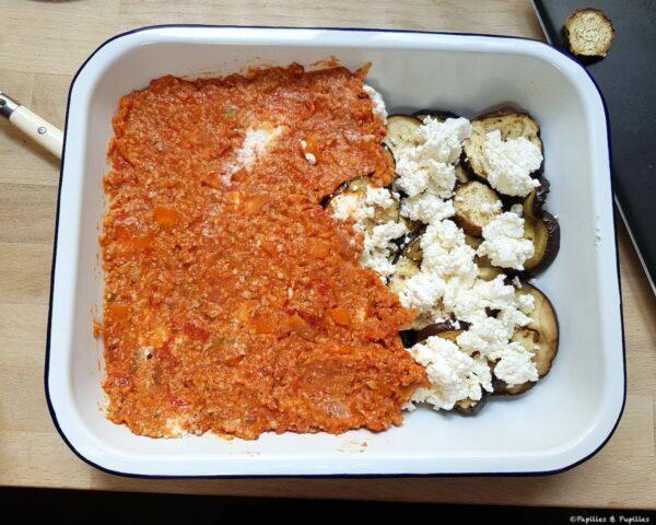 Aubergine ricotta sauce tomate