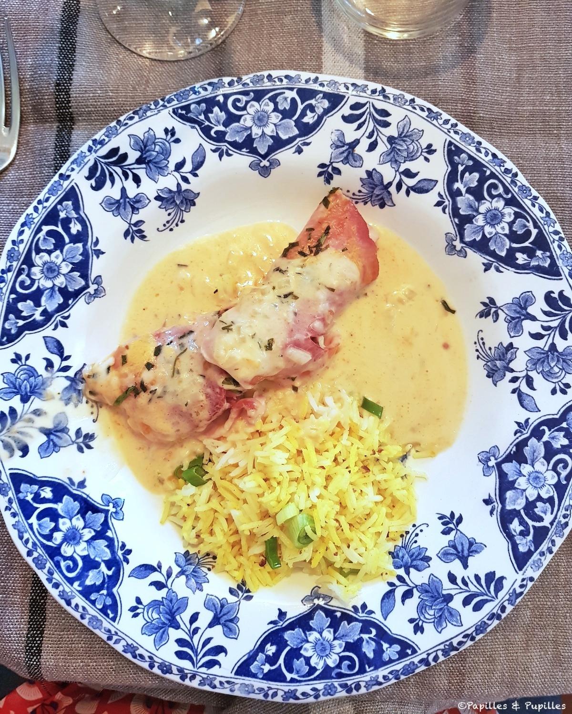 Jambon à la Chablisienne et riz