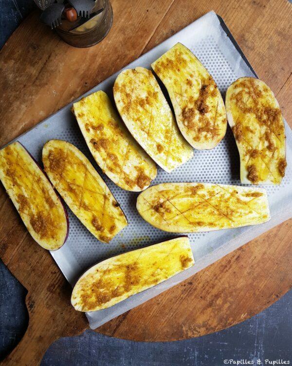 Aubergines avant cuisson