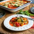 Gratin de courgettes à la tomate, Parmesan et mozzarella