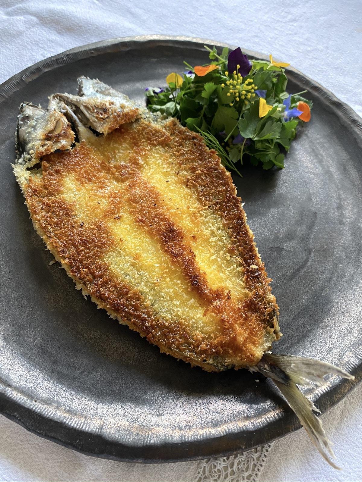 Maquereau façon fish and chips, sauce tartare
