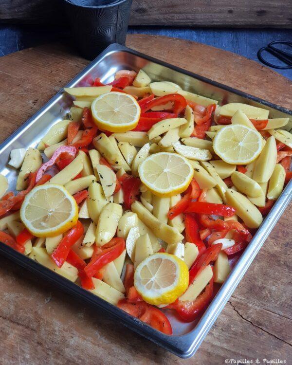 Le plat avant cuisson