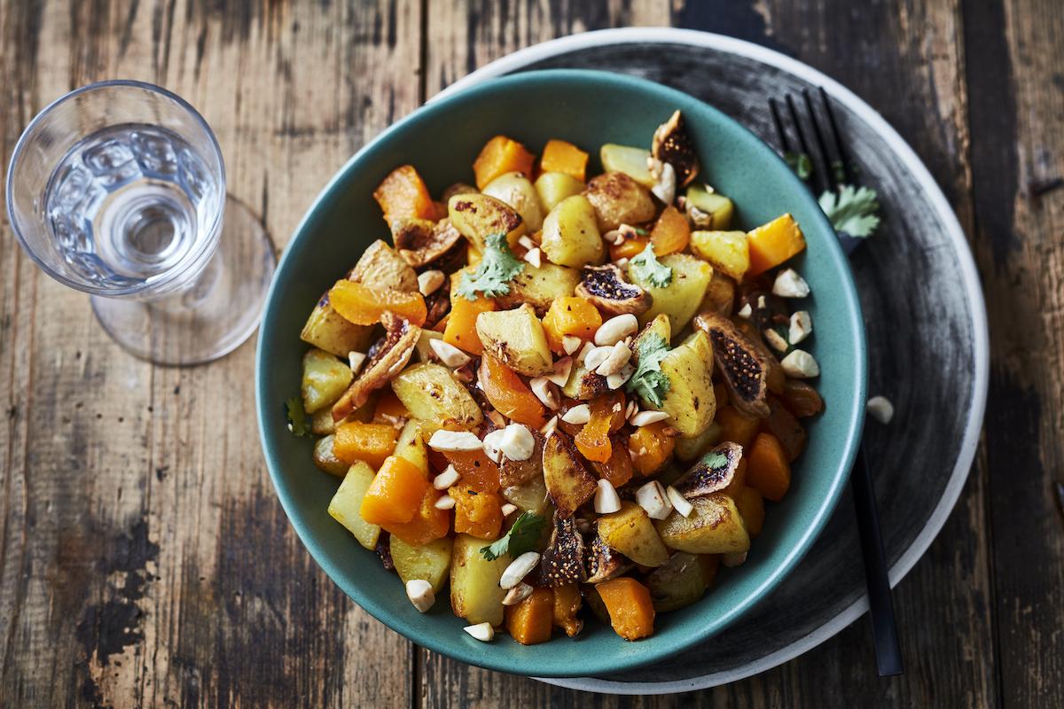 Pommes de terre et butternut sautées au wok et fruits secs Amélie Roche_CNIPT