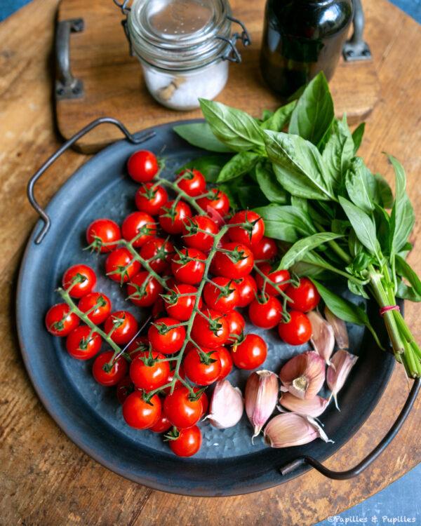Tomates confites Ingrédients de la recette