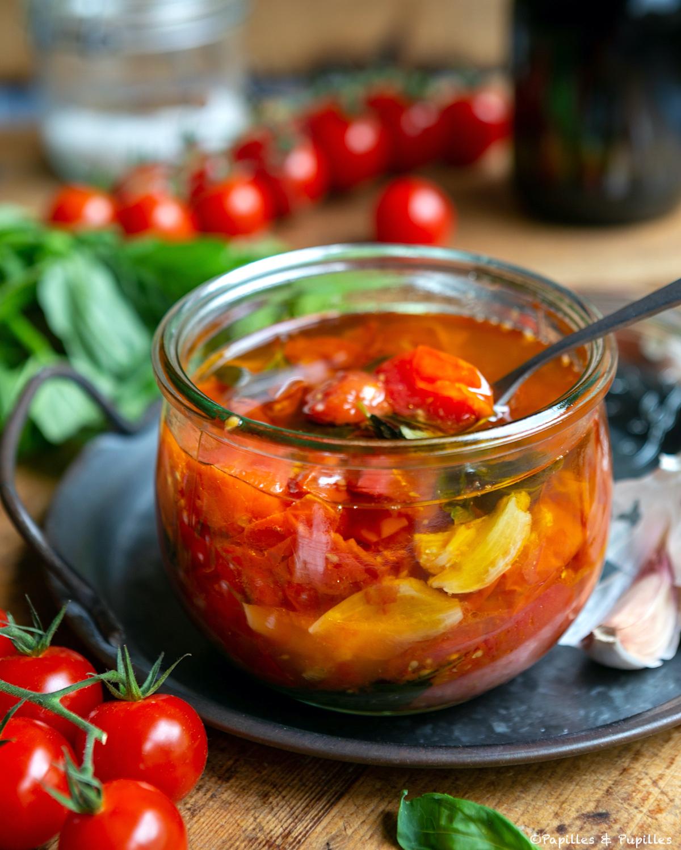 Tomates confites à l'huile