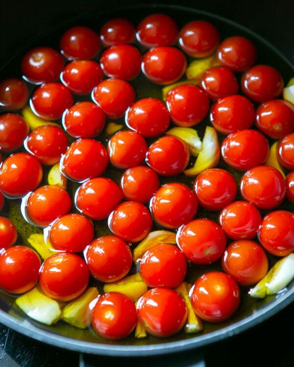 Tomates + huile