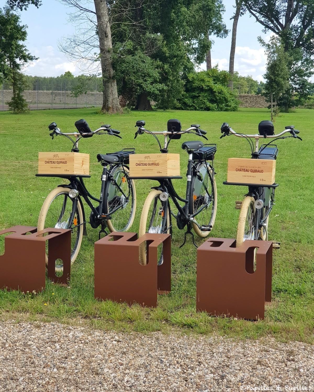 Vélos électriques - Château Guiraud