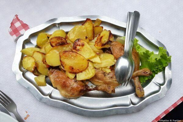 Confit et patates sautées
