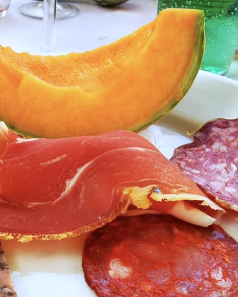 Melon charcuterie