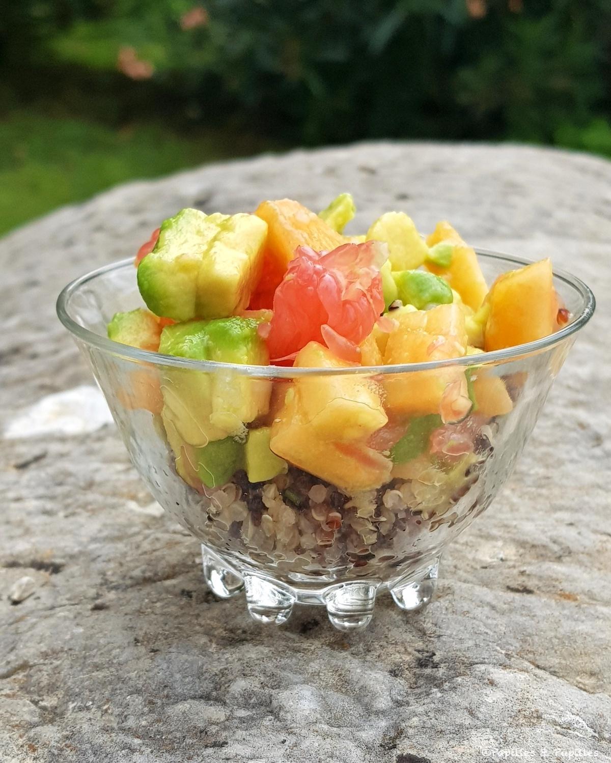 Salade de melon du Quercy IGP quinoa avocat