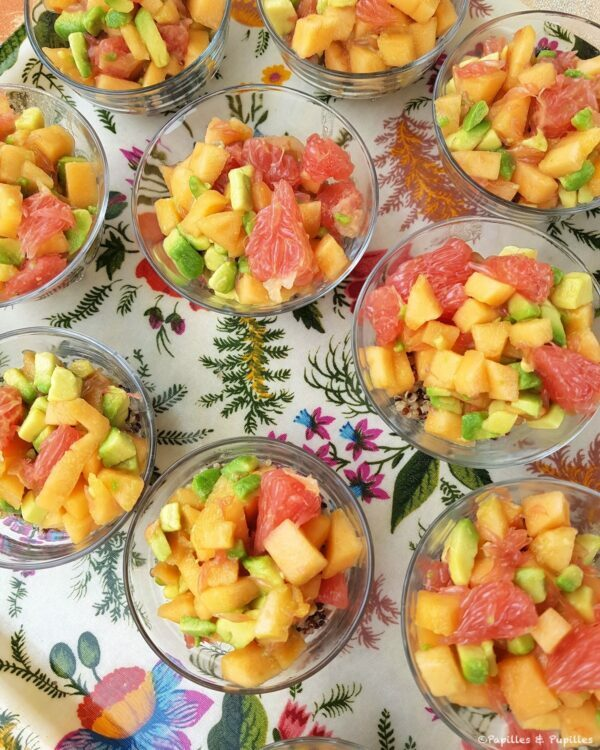 Salade de melon IGP Quercy, quinoa, avocat