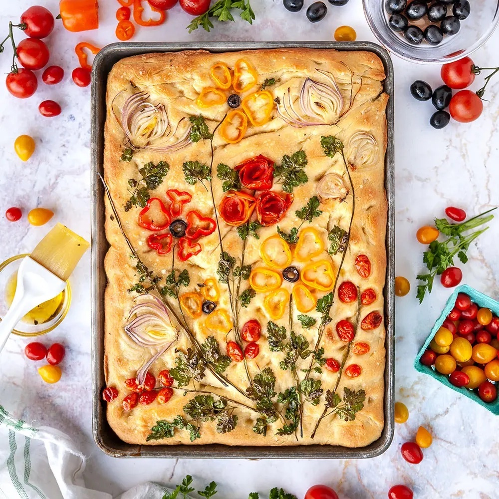 Focaccia Bread art ©SugarGeekShow