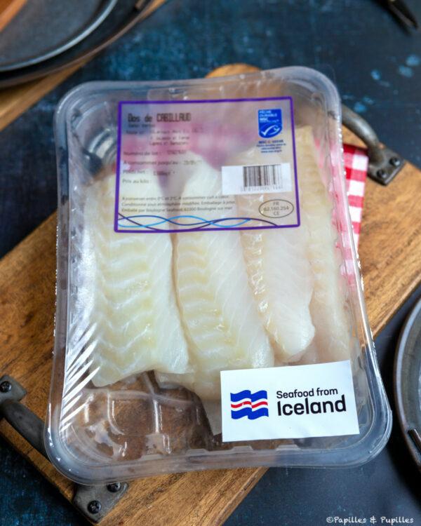Barquette de cabillaud Islandais