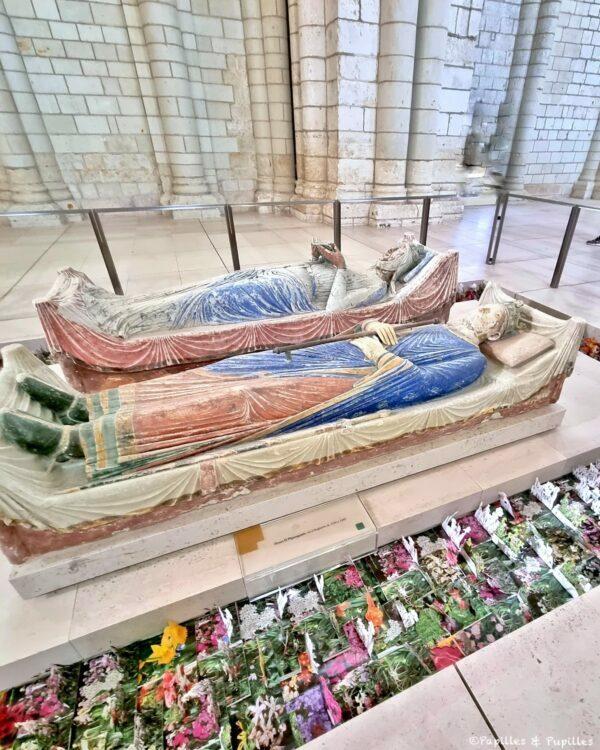 Gisants Alienor et Henri II Plantagenêt