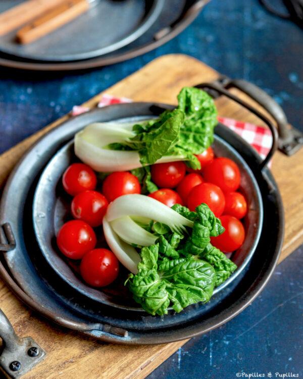 Tomates cerises et baby pak choi