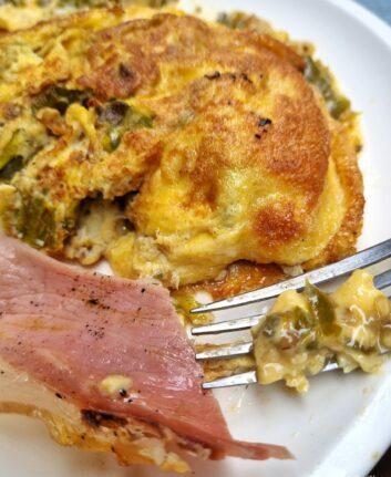 Omelette aux piments et jambon
