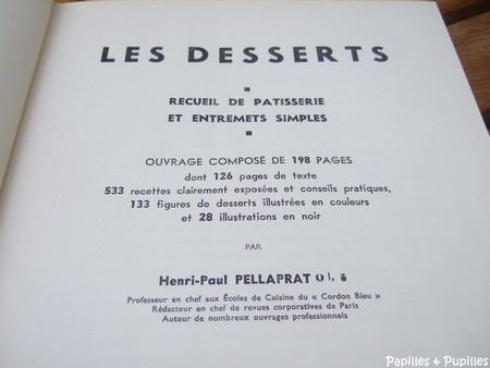 Les desserts, recueil de pâtisserie et entremet simples